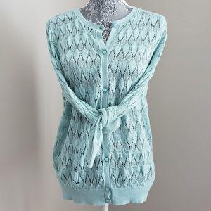 Loft Lace Knit Cardigan
